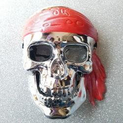 Máscara de Esqueleto Plateado